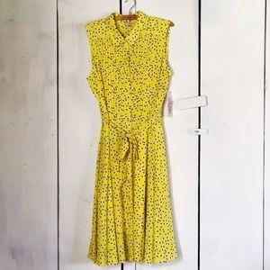 Nanette Lepore Pintuck Sleeveless Dress NWT